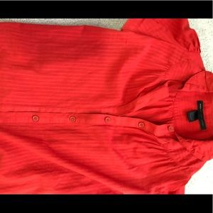 Red Marc by Marc Jacobs button-down blouse, Sz 2